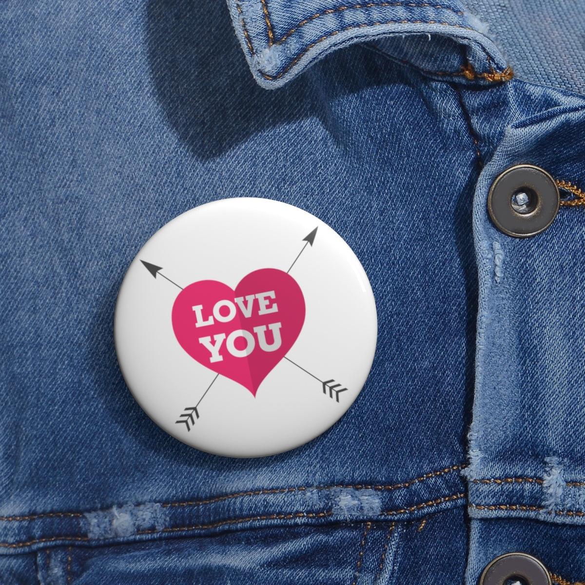I love you arrows Pin Button