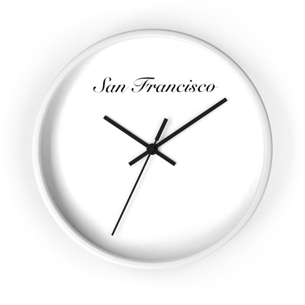 San Francisco City Name Wall clock