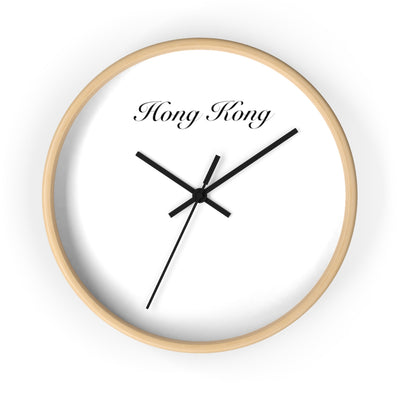 Hong Kong City Name Wall clock