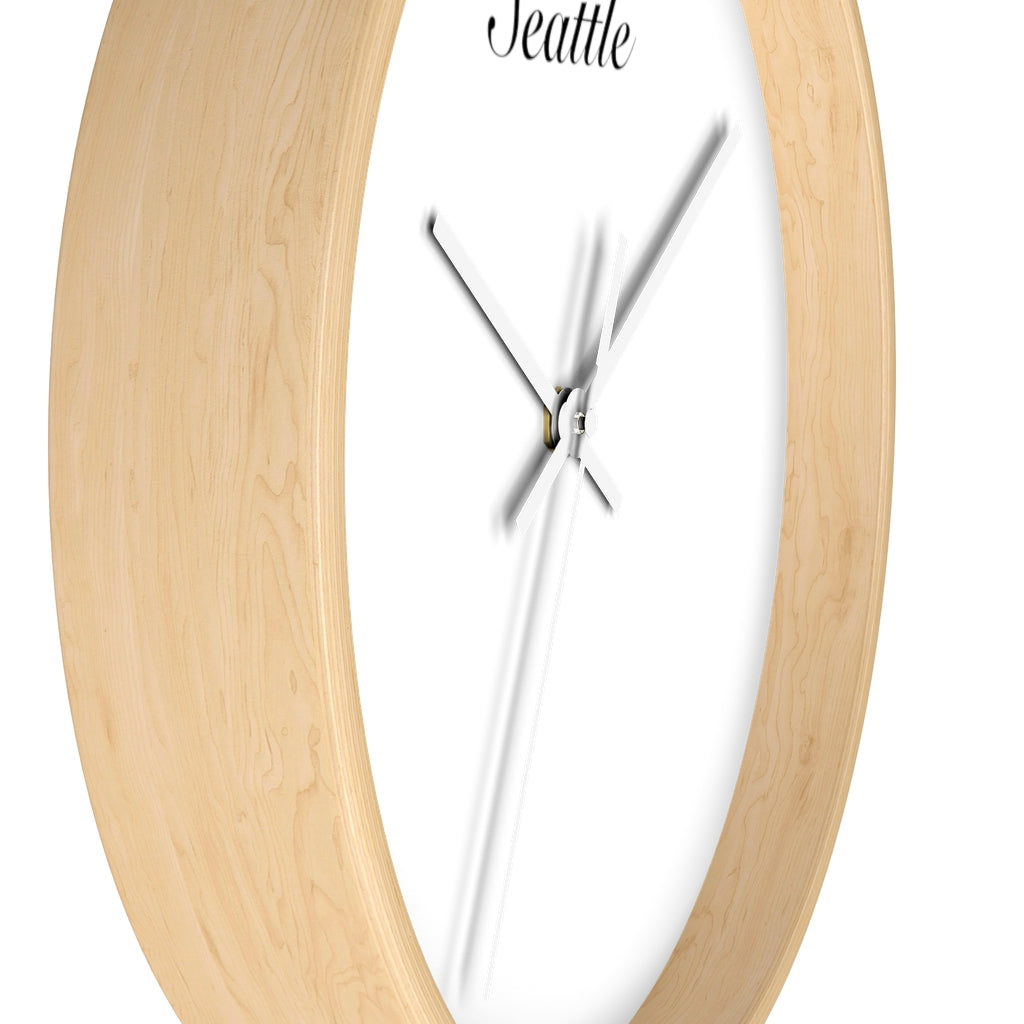 Seattle City Name Wall clock