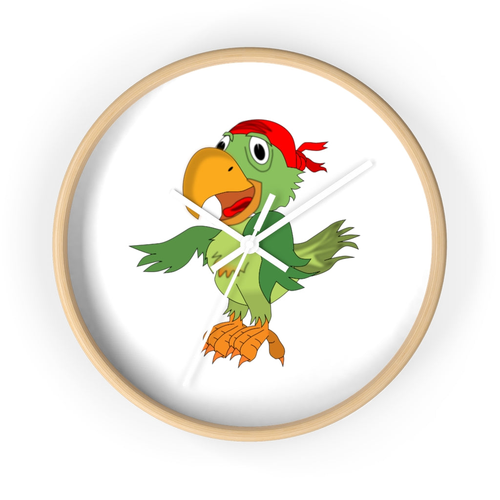 Pirate Parrot with bandana - Wall clock