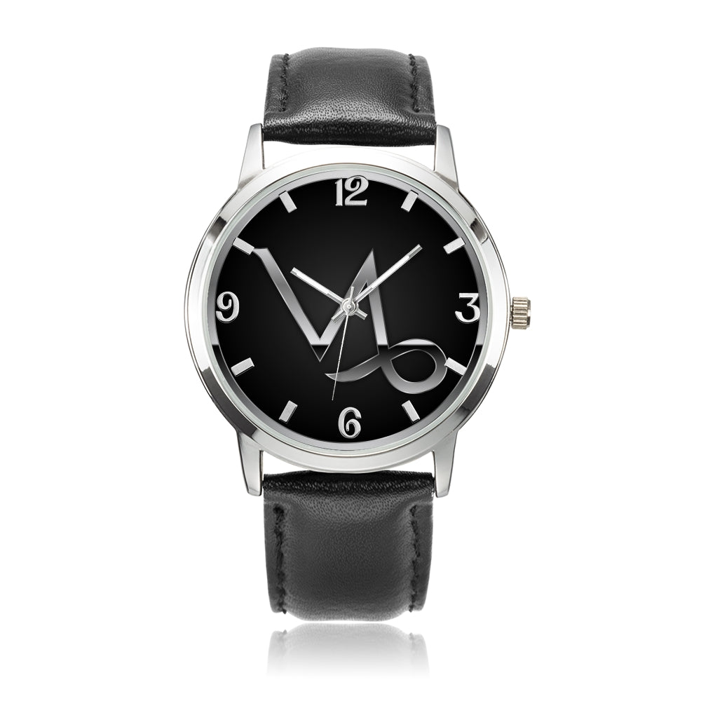 Zodiac Capricorn design genuine Leather 32mm / 38mm automatic water resistant Quartz wrist watch