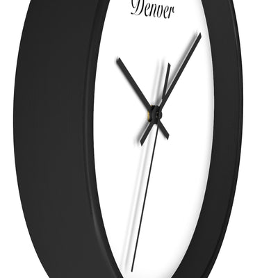 Denver City Name Wall clock