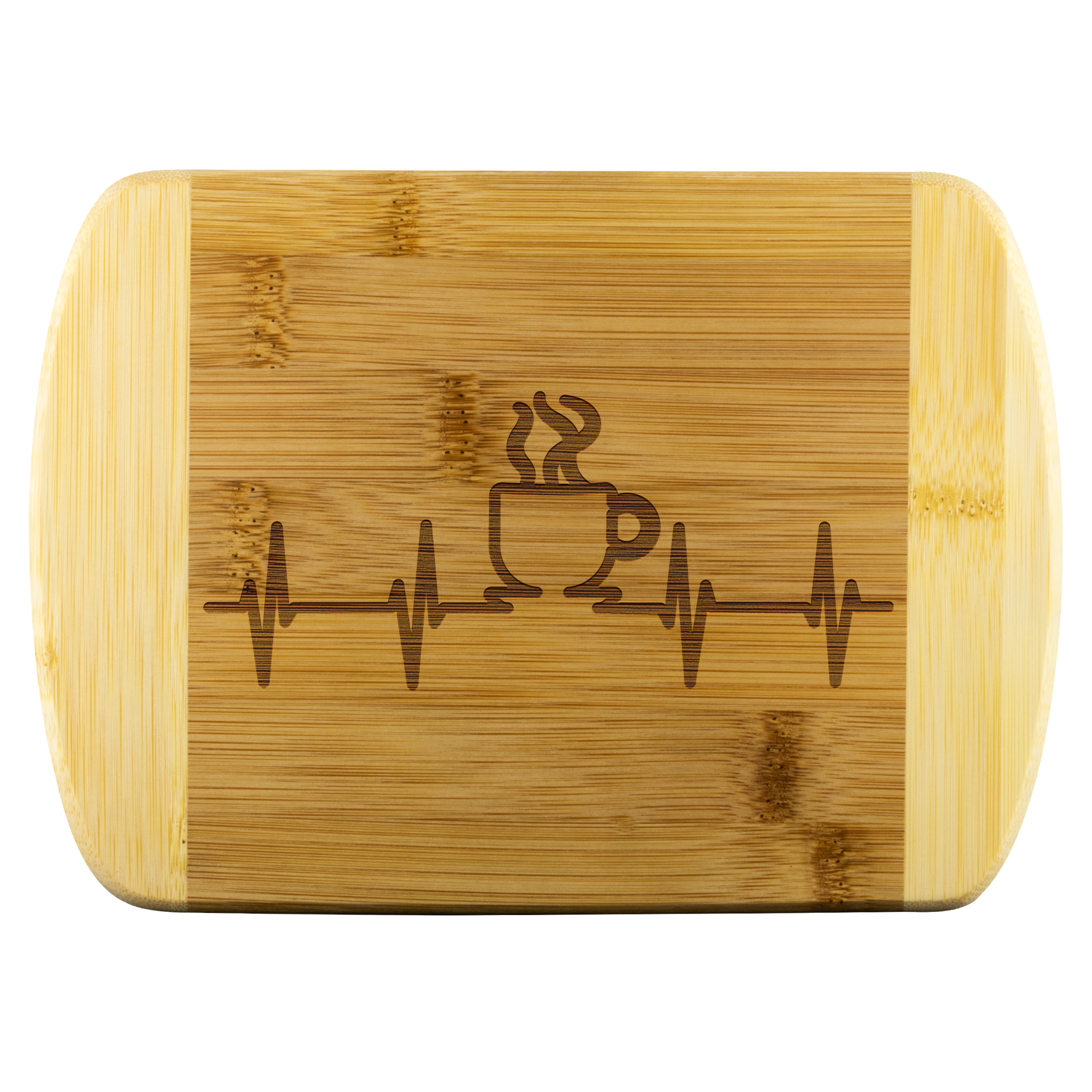 Coffee is the life line - Round Edge Wood Cutting Board