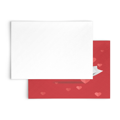 Happy Valentine's day - Flat Greeting Card (Pack of 10/30/50 pcs)