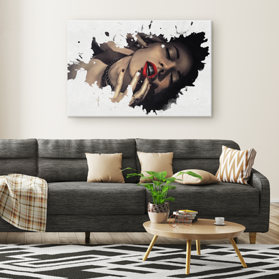 The vibrant woman - Rectangle Gallery Canvas Art