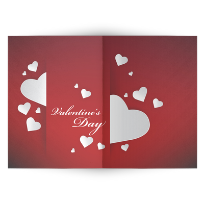 A heartful Valentines day - Folded Greeting Card (Pack of 10/30/50 pcs)