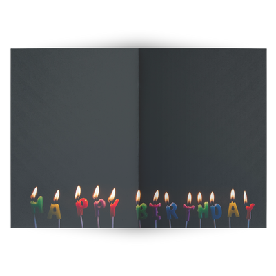 Happy Birthday day candle lights- Folded Greeting Card (Pack of 10/30/50 pcs)
