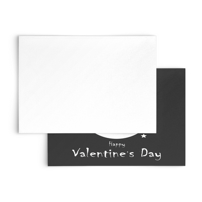 Happy Valentine's day owl - Flat Greeting Card (Pack of 10/30/50 pcs)