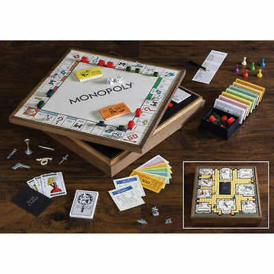 Monopoly and Clue - Deluxe Vintage 2-in-1 Game Collection with reversible game board