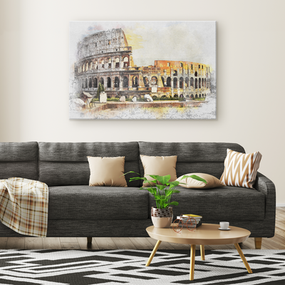 The Colosseum - Rectangle Gallery Canvas Art