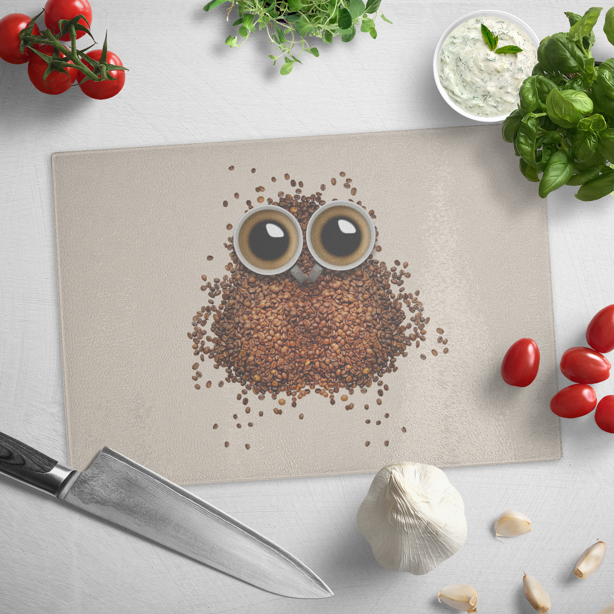 Coffee eyed - Glass cutting board