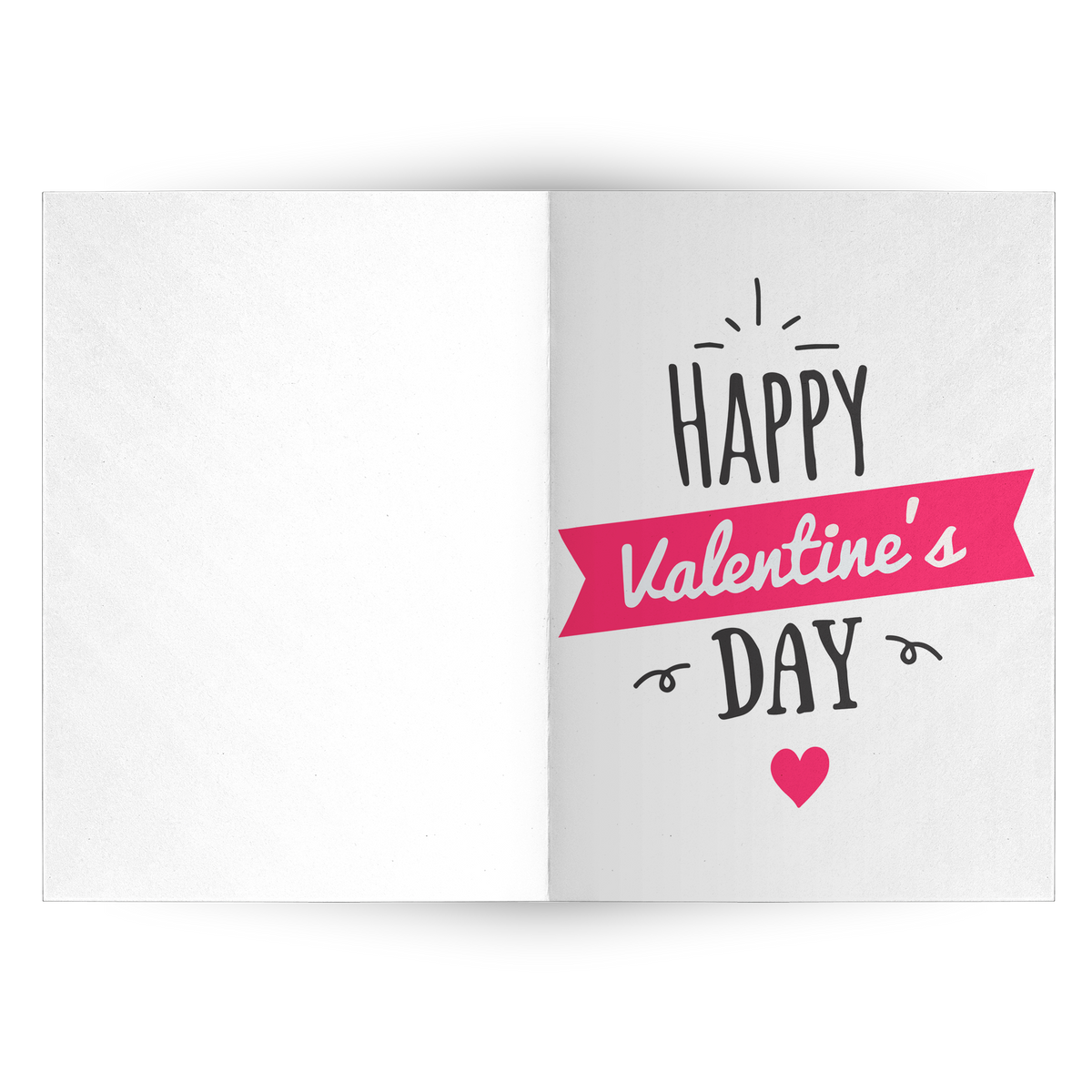 Happy Valentine's day - Folded Greeting Card (Pack of 10/30/50 pcs)