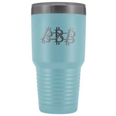 Bitcoin blockchain stainless steel vacuum insulated hot and cold beverage container