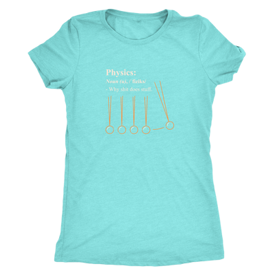 Physics - why shit does stuff  - Triblend T-Shirt