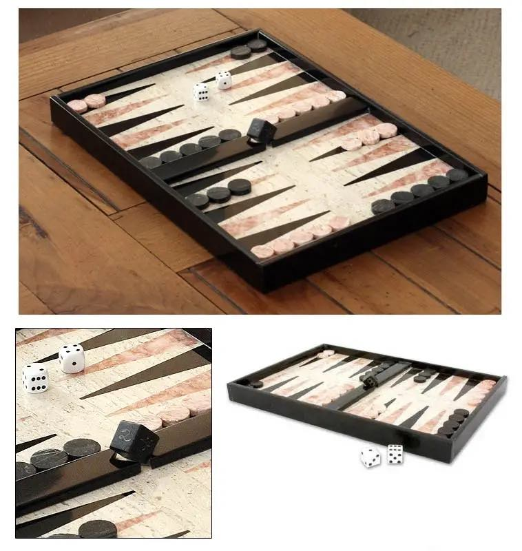 Marble Backgammon Set - Hand Made in Mexico