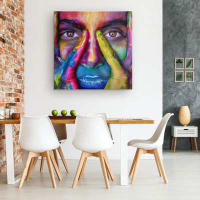 The painted face -  Square Gallery Canvas art