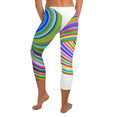 Colorful Vortex Capri Leggings