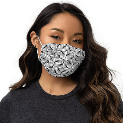 Abstract Curved lines Face mask
