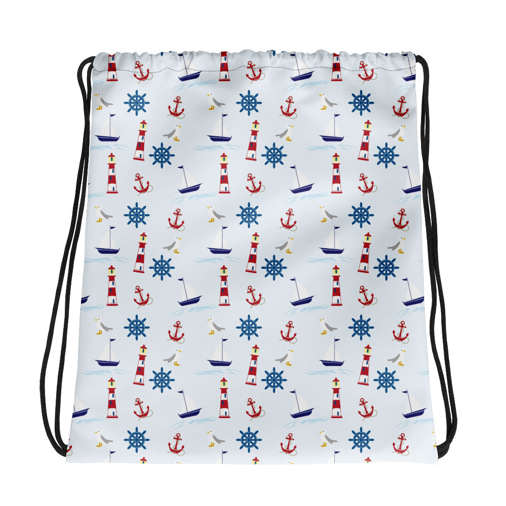 Nautical Drawstring bag