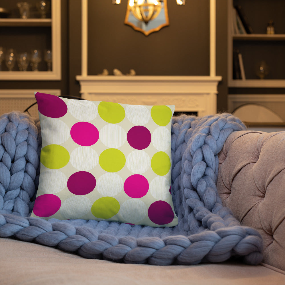 Polka Dots Throw Pillow