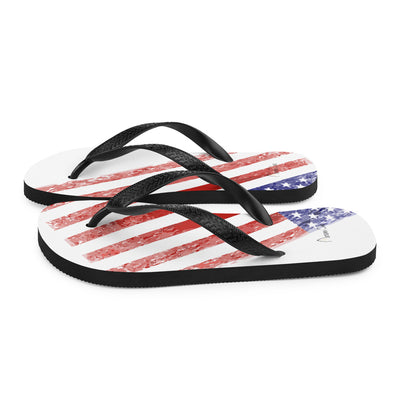 USA faded flag Flip-Flops
