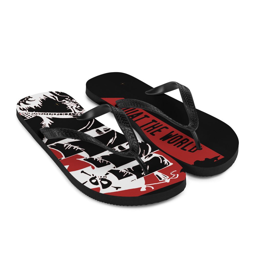 Squat the world - pirate ship Flip-Flops