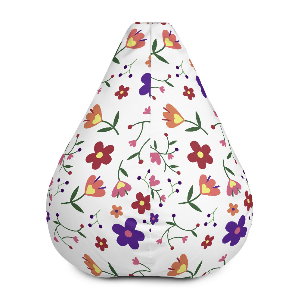 Floral pattern - Bean Bag Chair w/ filling
