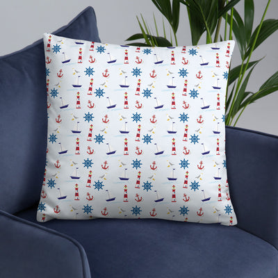 Nautical Throw Pillow