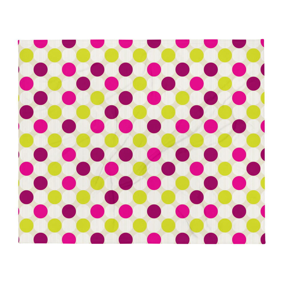Polka Dots Throw Blanket