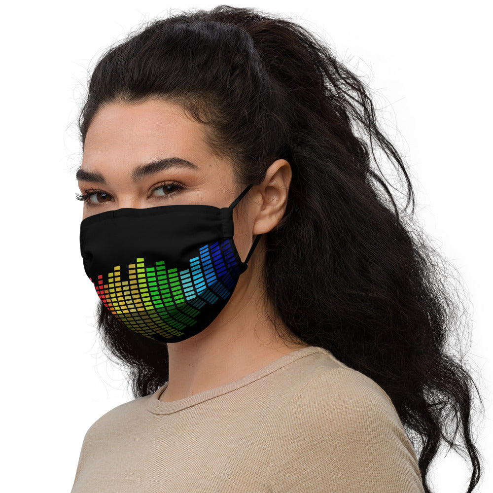 Colorful Music Equalizer Face mask