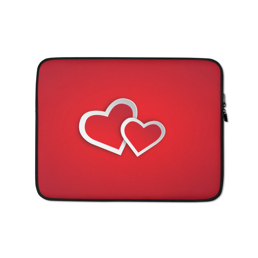Two Hearts Laptop Sleeve
