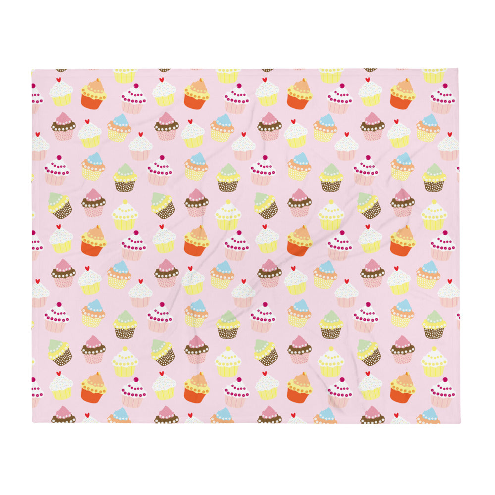 Cup Cakes Throw Blanket