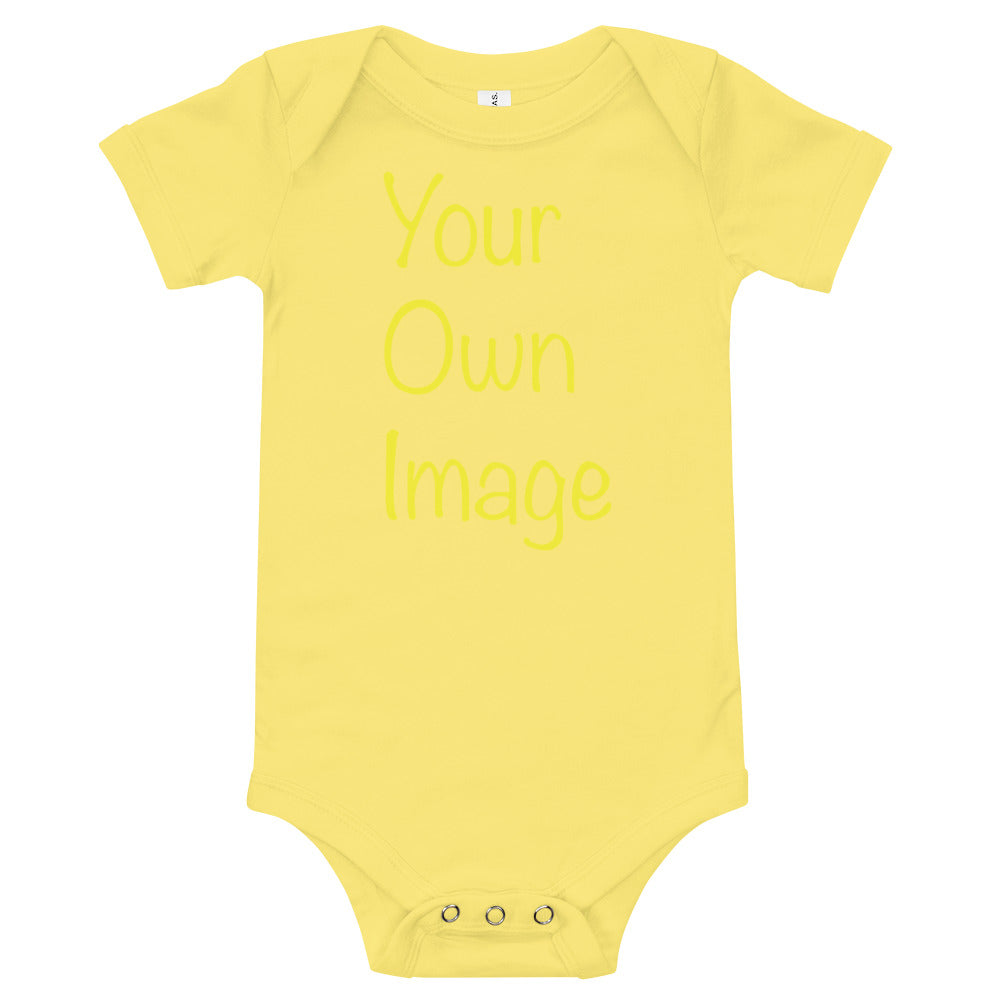 Custom Personalized Baby Short Sleeve One Piece