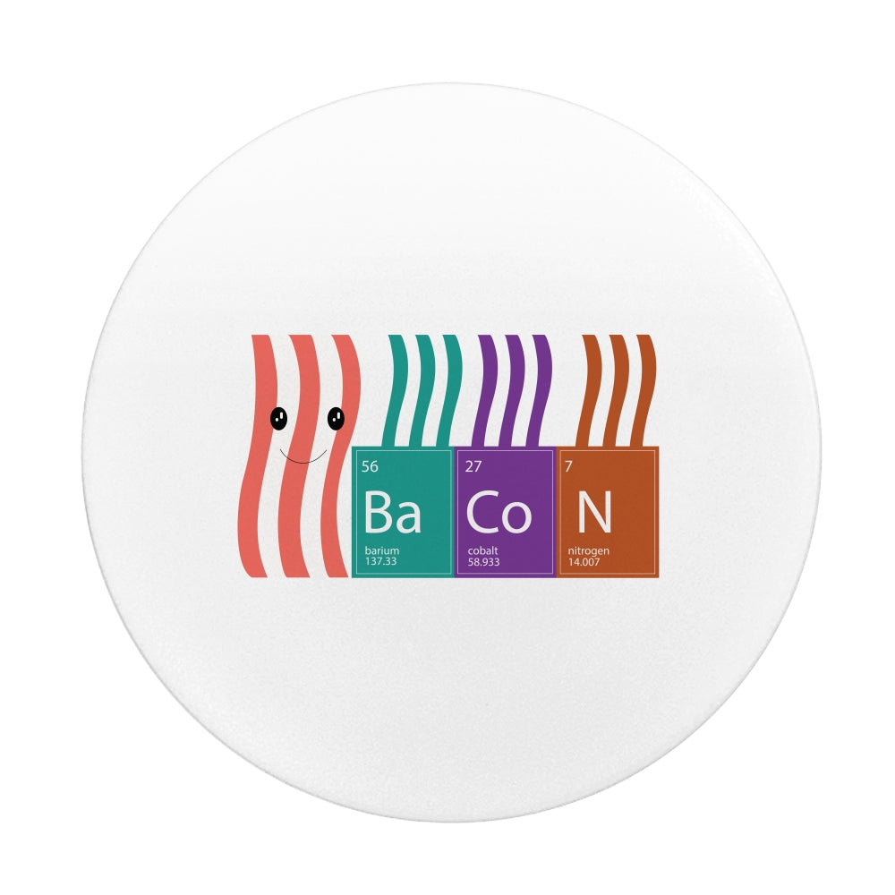 Bacon periodic table - Phone push pop grip socket