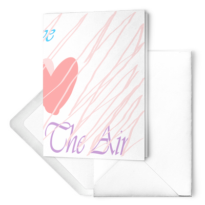 Love is in the air - Folded Greeting Card  (Pack of 10/30/50 pcs)