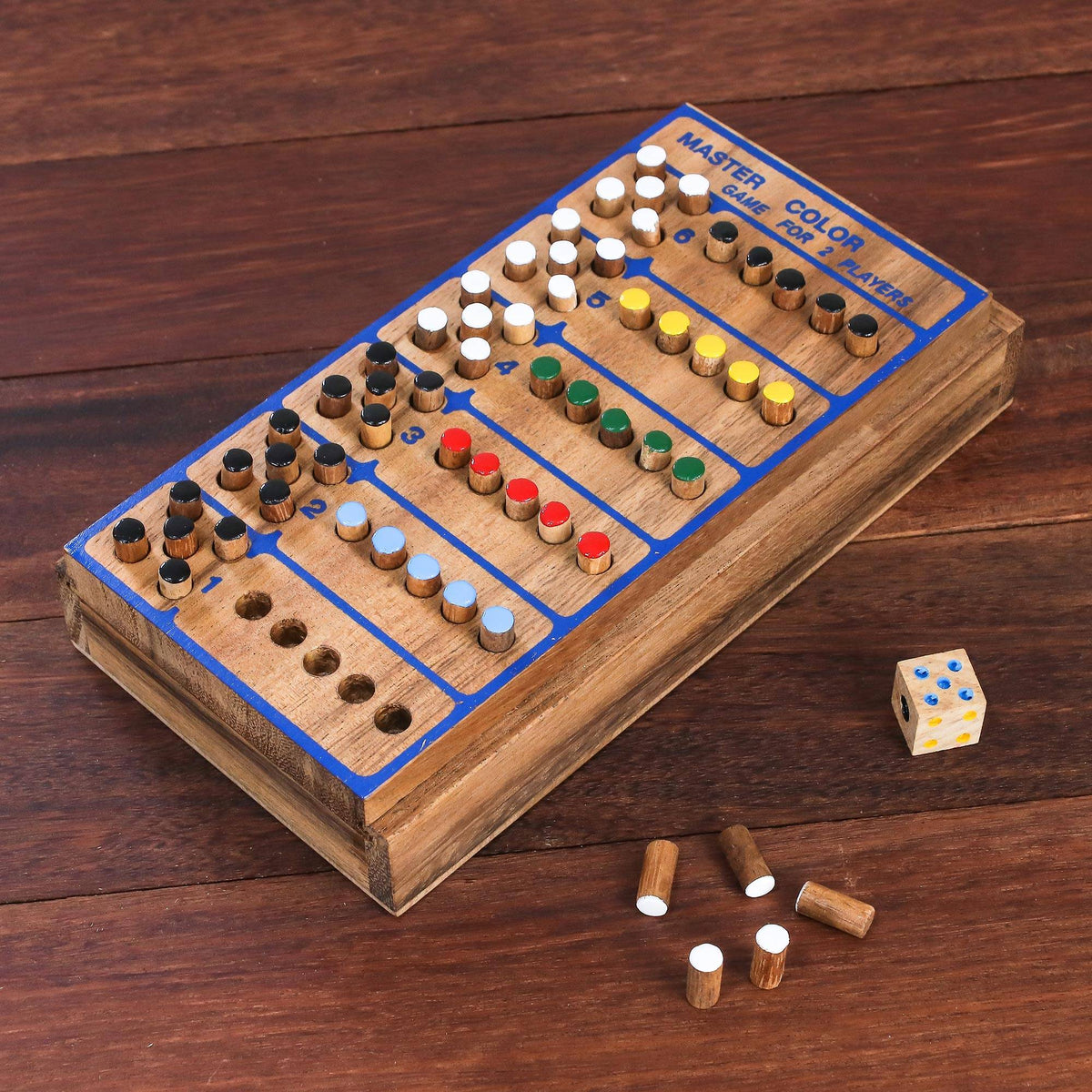 """Code Breaker"" - Hand Made Colorful Wood Peg Game"
