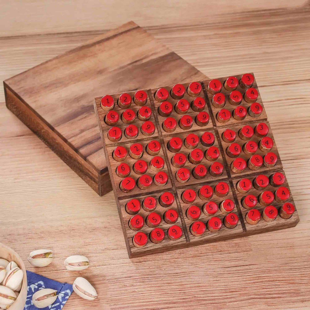 """Sudoku"" - Hand Made Wood Sudoku Puzzle Game"