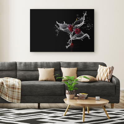 The fall of the cherries - Rectangle Gallery Canvas art