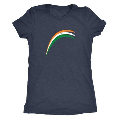 Modern Indian flag strokes - Triblend T-Shirt