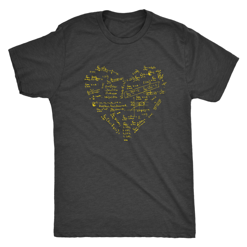 Math formulae heart - Triblend T-Shirt