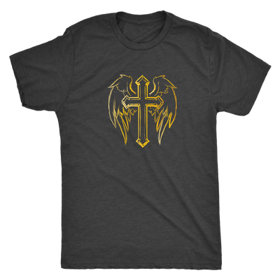 The angelic cross - Triblend T-Shirt