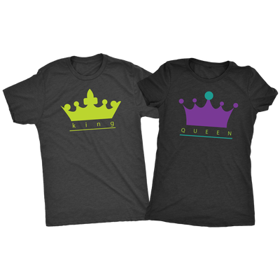 King and Queen Triblend Combo T-Shirts