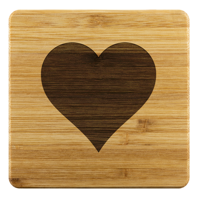 Heart Bamboo Coaster