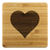 Heart Bamboo Coaster (set of 4)