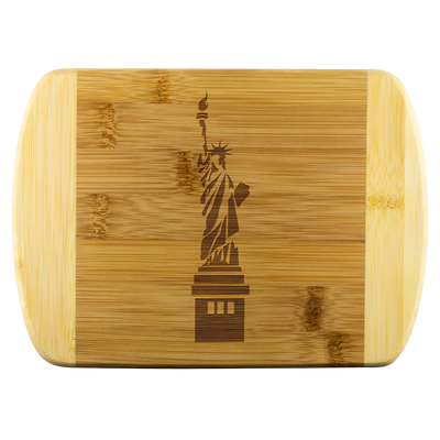 Statue of Liberty- Round Edge Wood Cutting Board