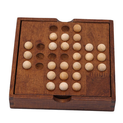 Solitaire small wooden board game / puzzle