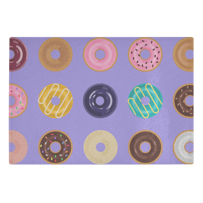 Doughnuts- Glass cutting board