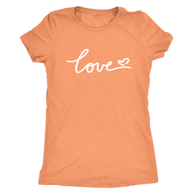 Signature love heart - Triblend T-Shirt
