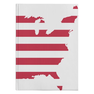 USA Map Hardcover Journal